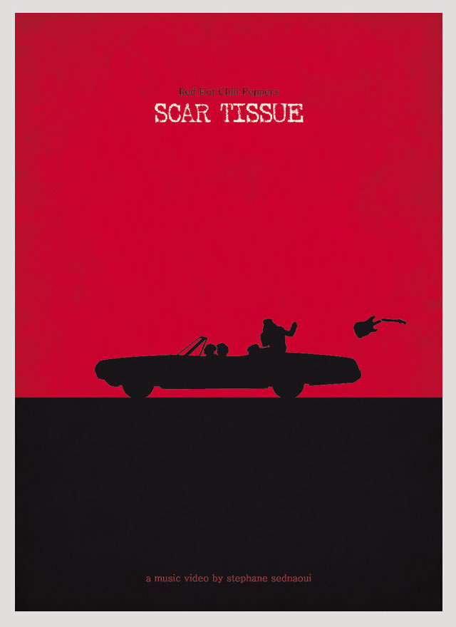 Poster de la canción Scar Tissue de los Red Hot Chillie Pippers, por Federico Mancuso