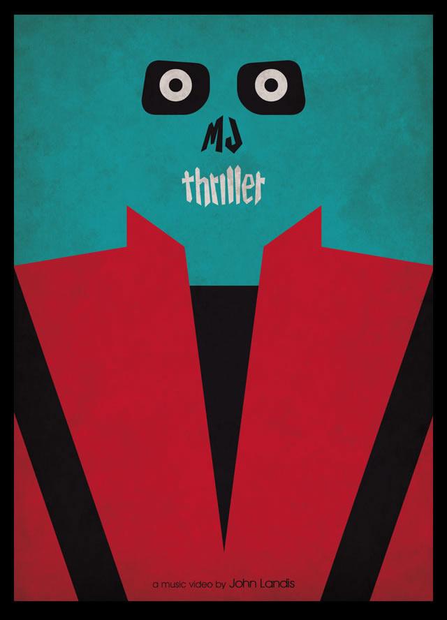 Excelente poster en honor a la canción Thriller de la leyenda Michael Jackson