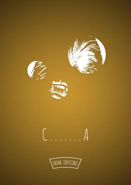 posters espacios negativos chewbaca
