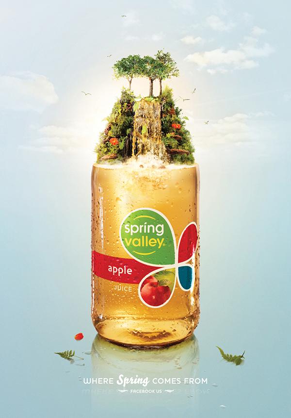 publicidad comida spring valley