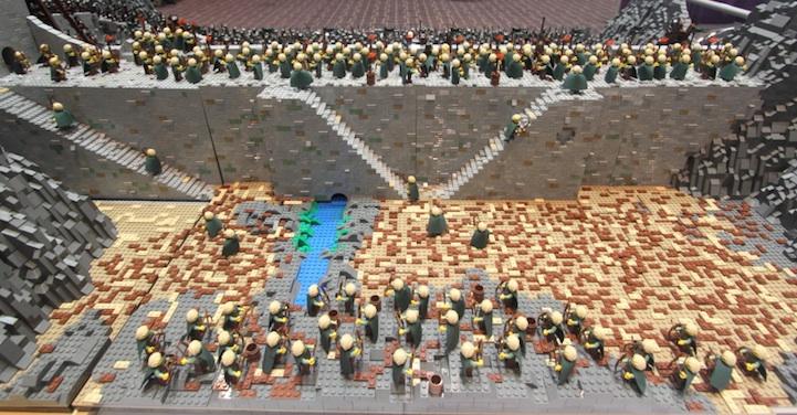 representación señor de los anillos LEGO 5