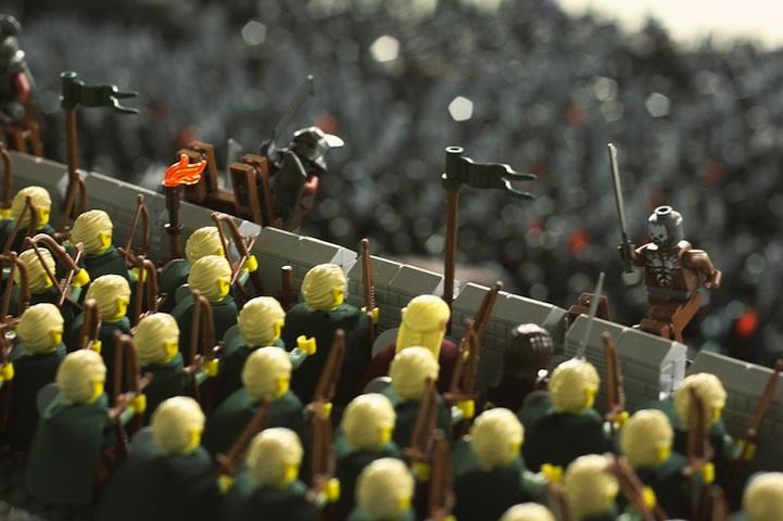 batalla de Helm's Deep con LEGO's