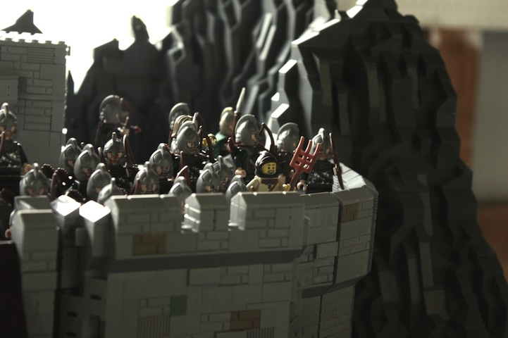 representación señor de los anillos LEGO 8