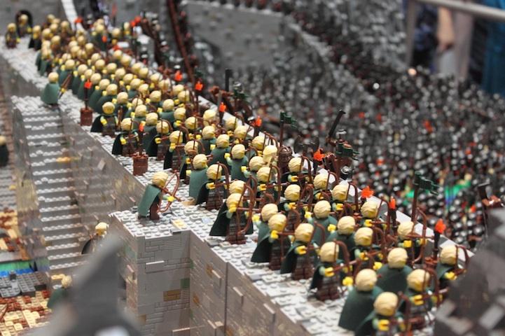 representación señor de los anillos LEGO 9