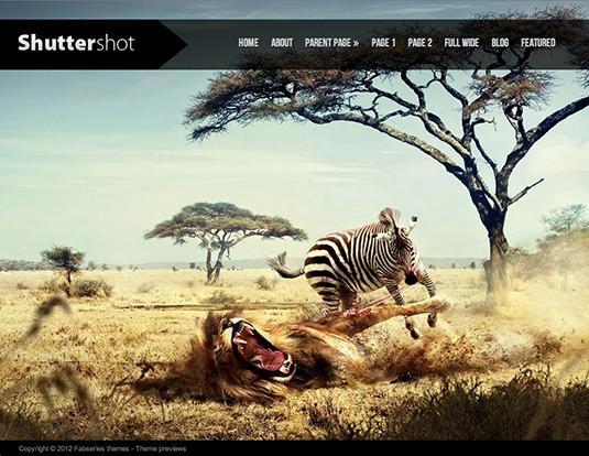 Shuttershot excelente plantilla para portafolios de fotografía