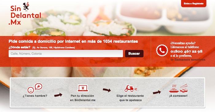 pedir comida en linea en restaurantes de México