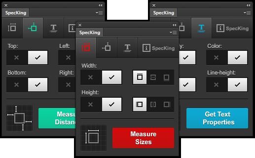 specking, Plugin Photoshop para crear reglas y mostrar medidas