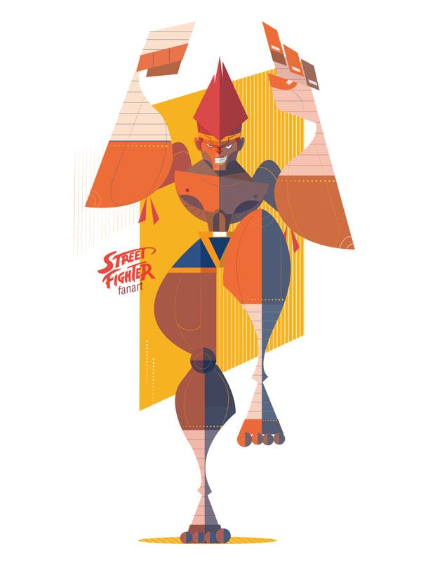 Ilustraciones de Street Fighter