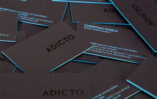tarjetas de presentación Letterpress , Adicto
