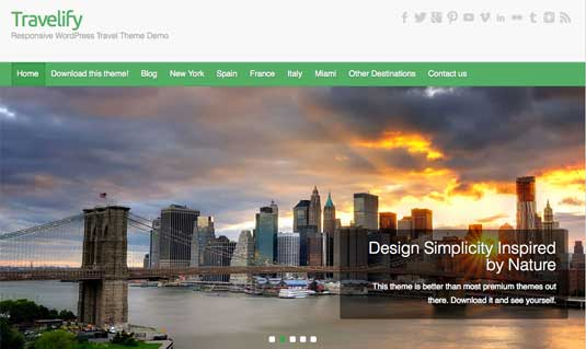 Travelify, plantilla wordpress para sitios de viajes