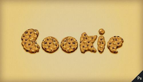 Crear texto con forma de galletas