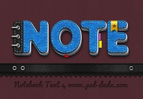 Diseñar texto con textura de bloc de notas