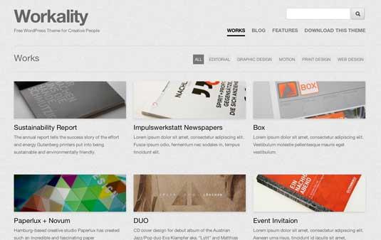 Workality, plantilla responsiva para portafolios de agencias