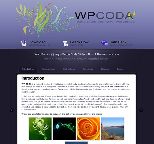 WPCoda, plantilla wordpress para landing page