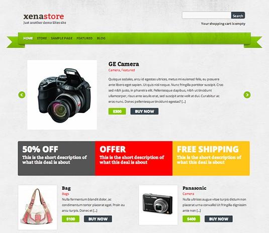 Xenastore, plantilla wordpress para tiendas en linea