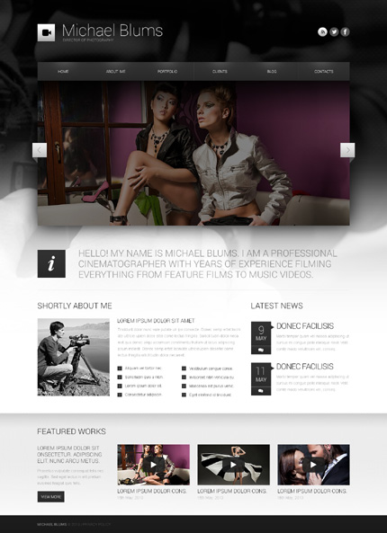 Temas WordPress premium, Bootstrap Cherry Framework Responsive WordPress Theme