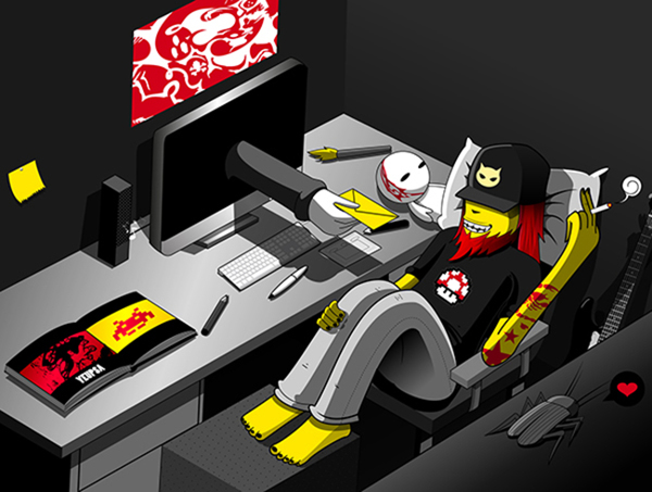 Galería de ilustraciones surrealistas por Zuco, gamer