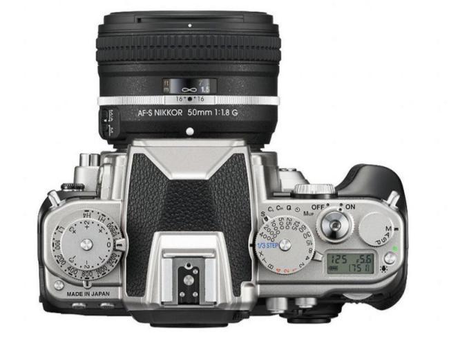 nueva cámara Nikon Df, arriba