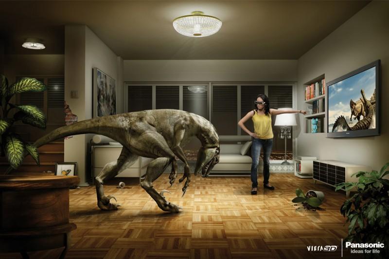 Publicidad de Panasonic y su televisión Viena 3D