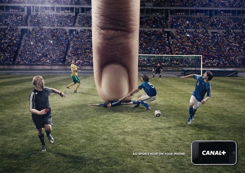 Publicidad de Canal+ y su aplicación para iPhone