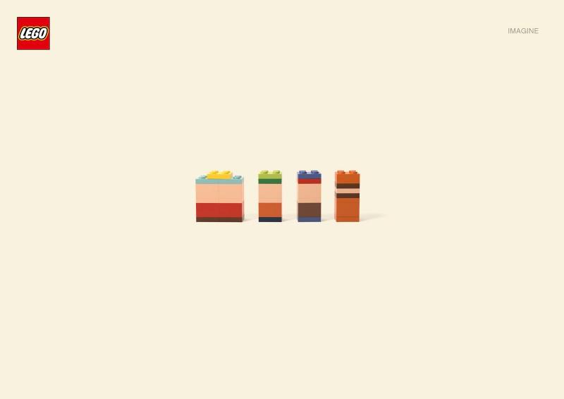 Publicidad de LEGO simbolizando a los personajes de South Park