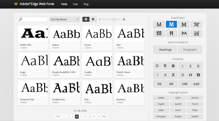 Adobe Edge Web Fonts una alternativa a Google Web Fonts