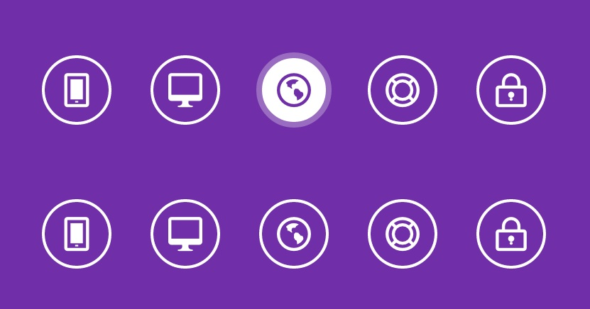 Efectos animados para botones con CSS