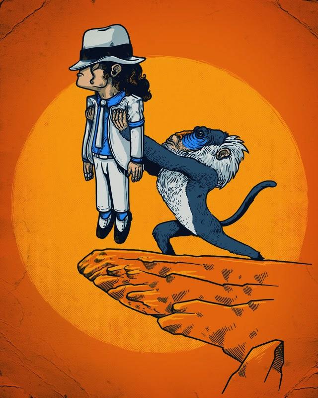 ilustraciones alex solis rafiki michael jackson