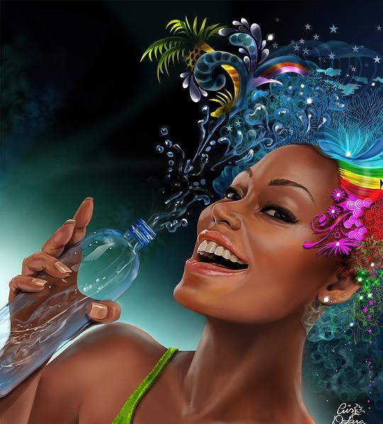 Mujer feliz de carnaval