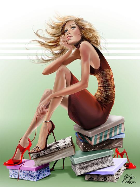Mujer adicta a las compras