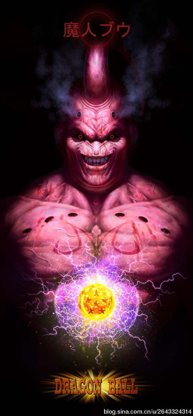 ilustraciones dragon ball majin bu