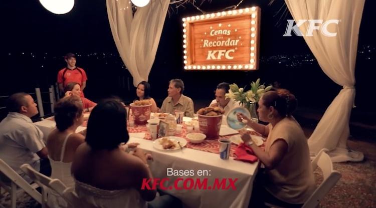 Conmovedora campaña de KFC cenas para recordar