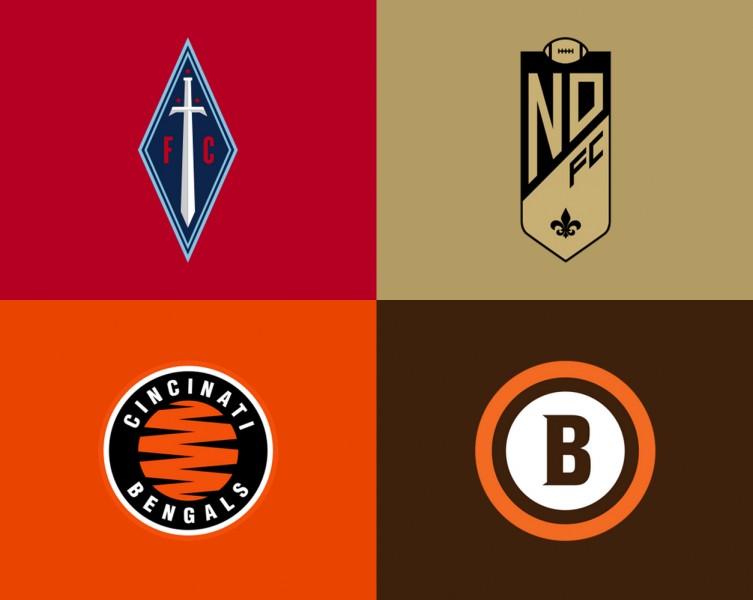 Logos de la NFL rediseñados