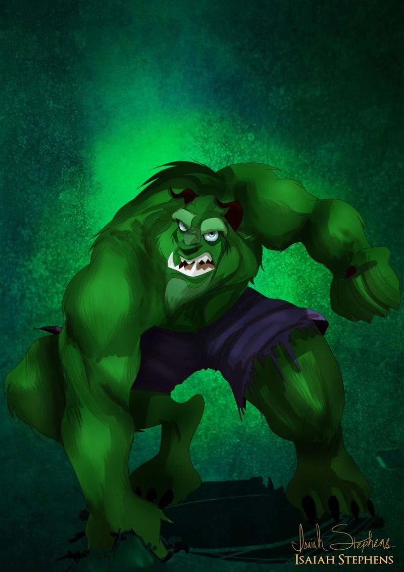 La bestia disfrazada de Hulk