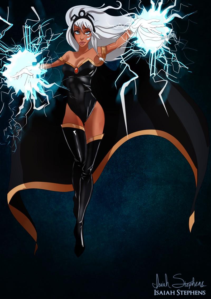 Kida disfrazada de Storm de los X-Men