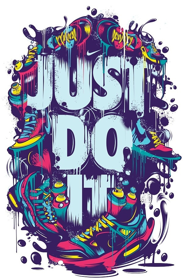 poster ilustraciones just do it