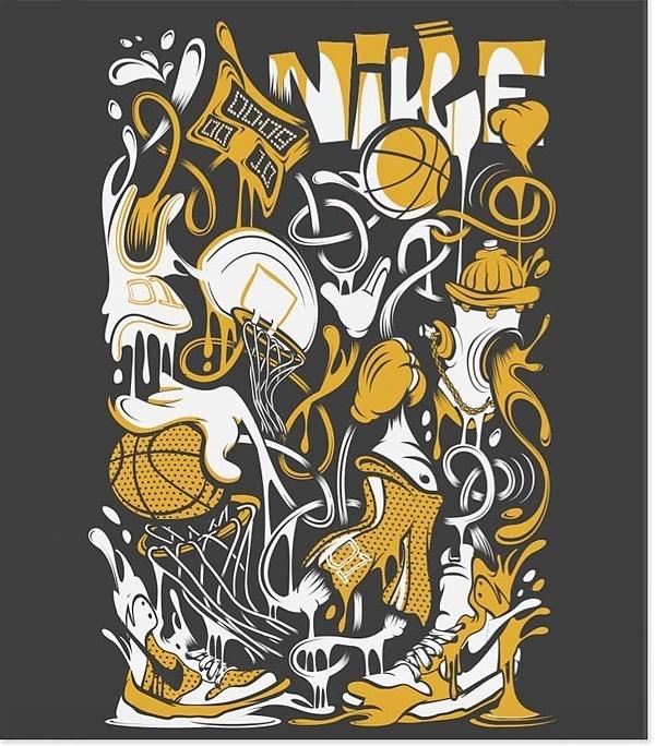 poster ilustraciones nike basketball 2