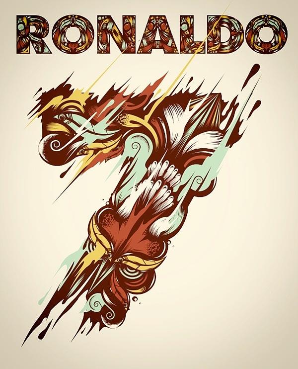 poster ilustraciones ronaldo 2