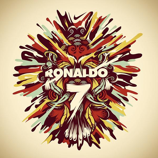 poster ilustraciones ronaldo