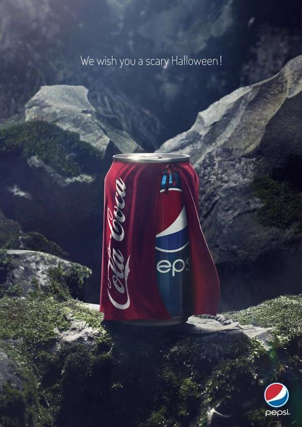 Pepsi se burla de Coca Cola en su publicidad de Halloween