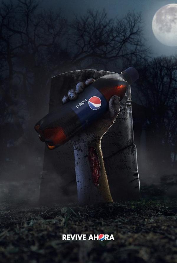 Hasta los Zombies toman Pepsi