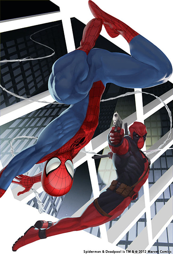 Portada de Spiderman y Deadpool