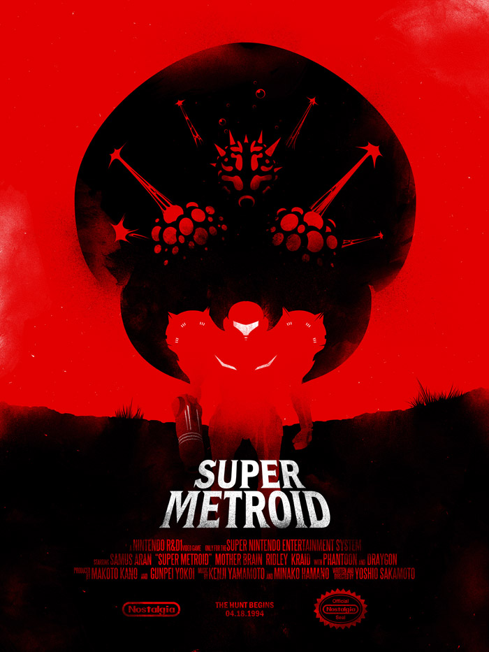 ilustraciones de video juegos, Super Metroid