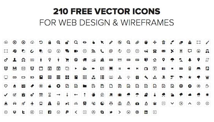 Iconos para diseño web
