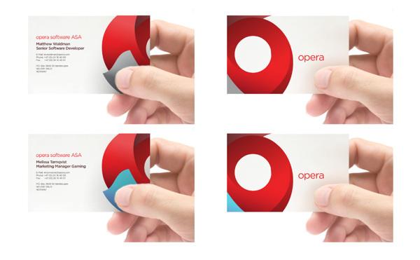 Branding de opera tarjetas