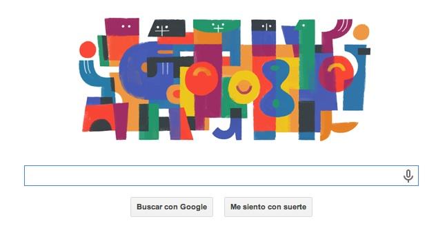 Doodle 122 aniversario del pintor Carlos Mérida