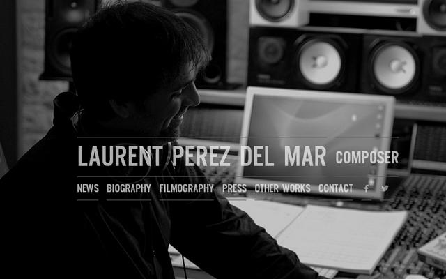Diseños web en colores grises y oscuros, Laurent Perez Del Mar