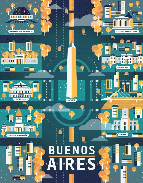 Ilustraciones por Aldo Crusher, Buenos Aires