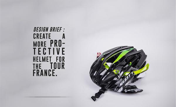 Concepto de casco protector para ciclistas del Tour de Francia