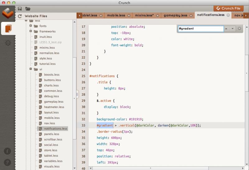 editor y compilador LESS, Visor de archivos LESS